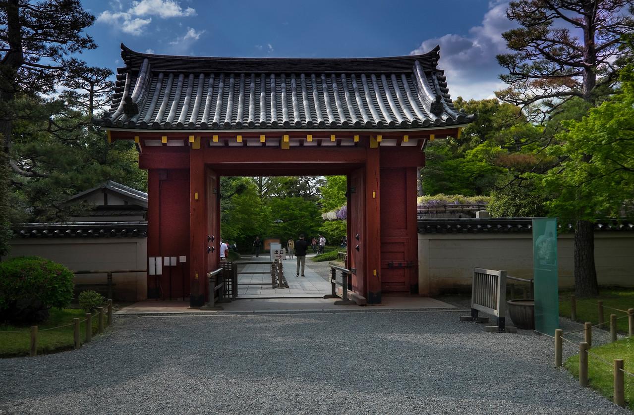 The Entrance of Byodo In Temple, Uji , Kyoto , Japan