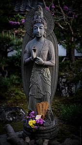 Guan Yin at the entry gate of Tenryuji Temple, Arashiyama , Kyoto