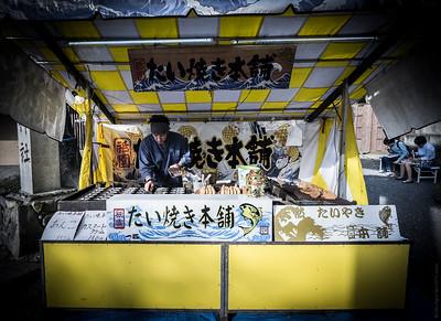 Street Food Vendor, Kiyomizu, Kyoto , Japan