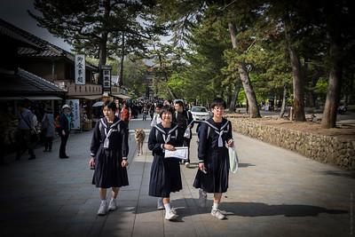 School Girls on School Trip
