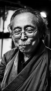"The Master Chef of  ""Robata Honten"" Restaurant in Tokyo"