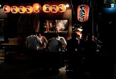 Open air night restaurant , Shimbashi , Tokyo