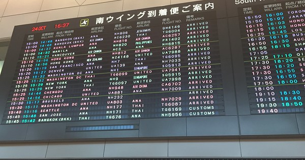 Arrivals at Narita Airport