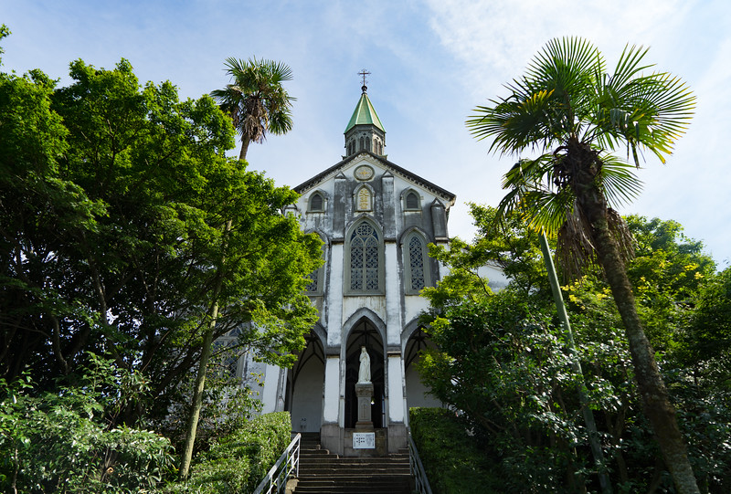 Ōura Church is a old cathedral in Nagasaki that has quite a past.  As a trading town frequented by foreigners, Christianity gained a bit of a foothold in Nagasaki.  Soon after, it was persecuted - leading to 26 Japanese martyrs who were crucified in 1597.