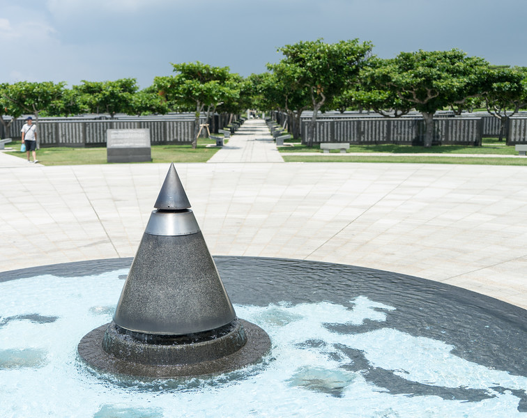 Memorial for all those who died in the Battle of Okinawa.  Interestingly, this memorial contains people of all nationalities - even the Americans.