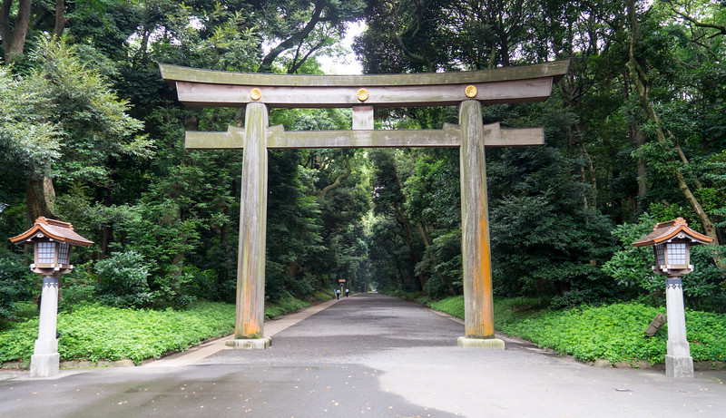 Gate to the Meiji Shrine in Tokyo.  Emporer Meiji was a fairly important fellow who oversaw the tranformation of Japan into a modern nation at the dawn of the 20th century.