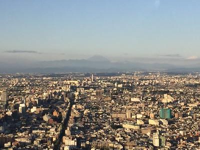 View of Mt. Fuji from the Treadmill at Park Hyatt Tokyo
