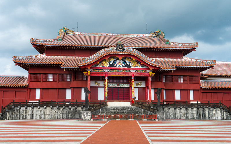 The Shuri Castle on Okinawa is a very important castle.  This of course is replica as the original was destroyed in the WWII Battle of Okinawa.