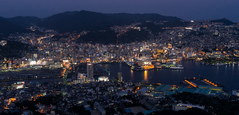 The night lights of Nagasaki