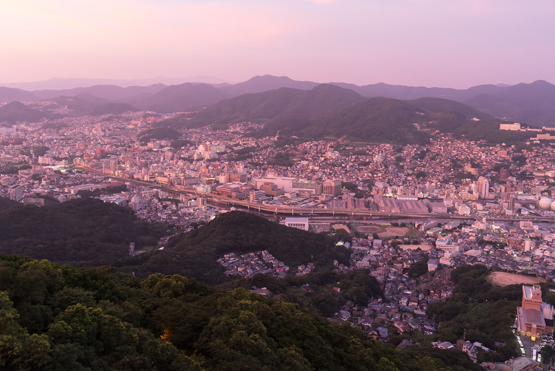 Beutiful colors as the sun begins to set on a great day in Nagasaki...no Photoshop adjustments needed here...