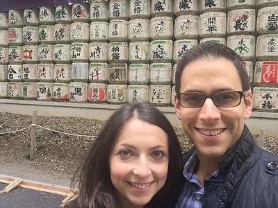 First of many awkward selfies, Meiji Shrine, Tokyo