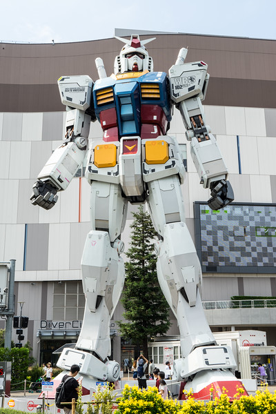 Enormous Gundam statue outside of a mall.  Why?  Because Japan.