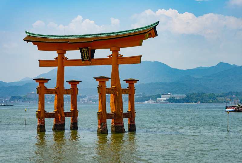 """Floating Torii"" at Miyajima Island off the coast of Hiroshima."