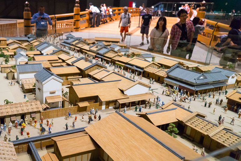 A model of an old Edo (old word for Tokyo) village.  I love the models that the Japanese make - these can be found in many museums in the country - extremely detailed!