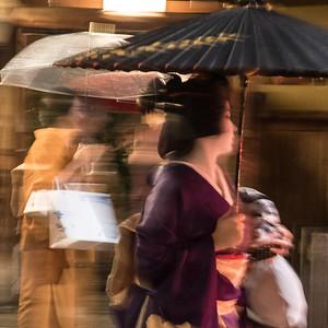 Maiko sprinting away