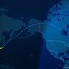ANA Flight 9 Flightmap JFK->NRT (photo credit: Justin)