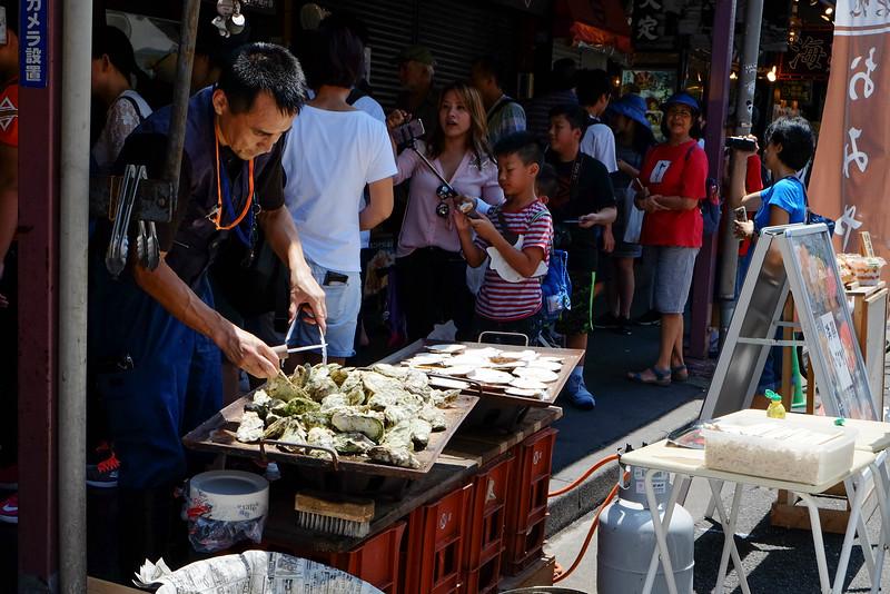 Oysters at Tsukiji Fish market