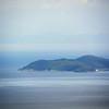 Okshima Island, on Lake Biwa, seen from Hiei-Zan summit