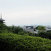 Kyoto Tower (next to the train station) from  Kodai-ji