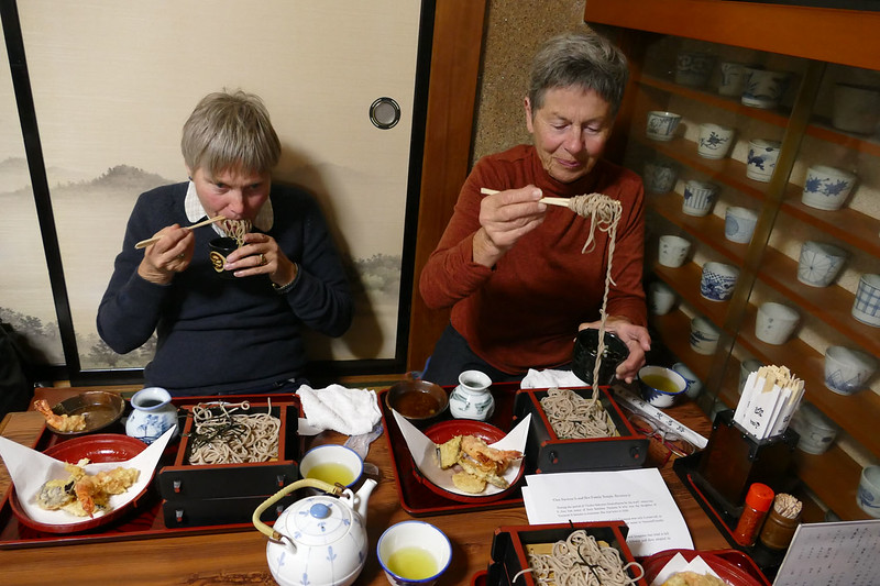 Vanda & Marita enjoying a traditional Japanese meal