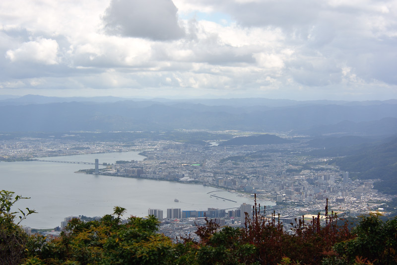 Lake Biwa, along Otsu and Shiga from atop Mount Hiei