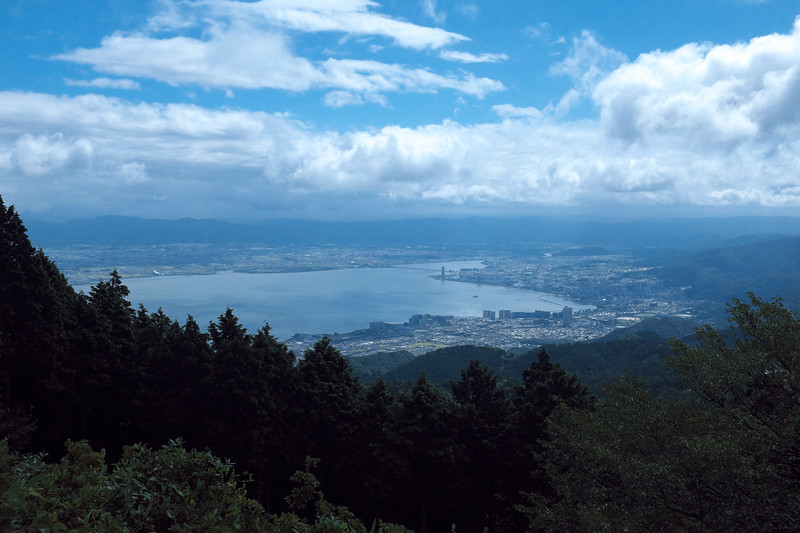 Lake Biwa, along Otsu and Shiga from atop Mount Hiei