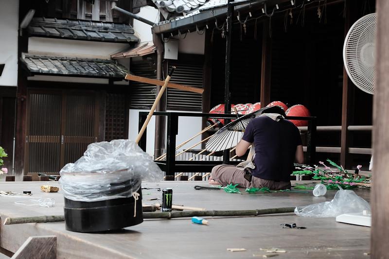 Umbrella maker at Yasaka Shrine