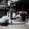 Umbrella maker at Yasaka Shrine