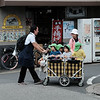 Child transport in Yanaka Ginza
