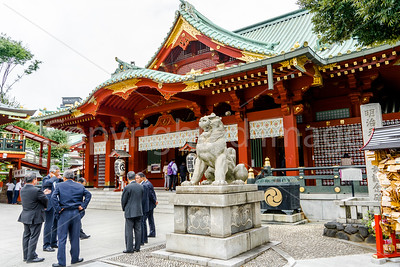 Businessmen at the Kanda shrine