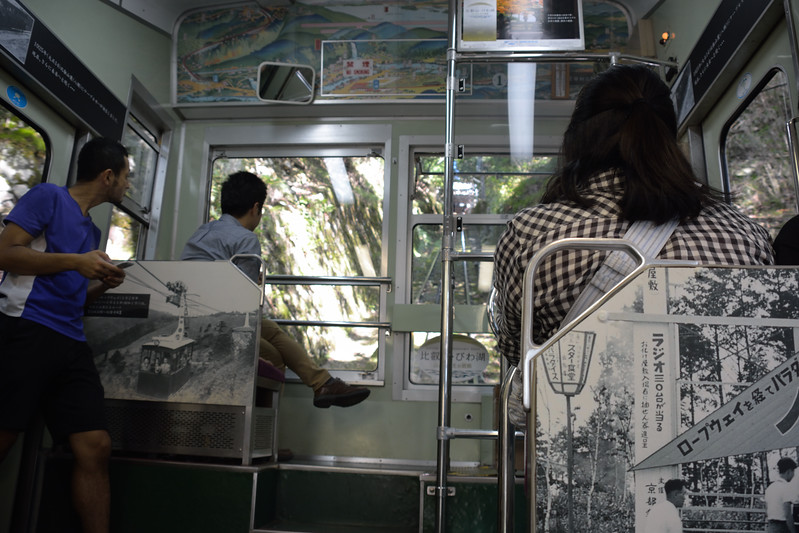 The cable car down from Hiei-zan to Kyoto