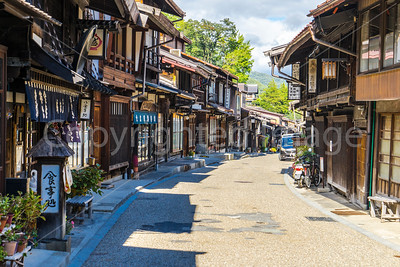 The main street in the small town of Narai