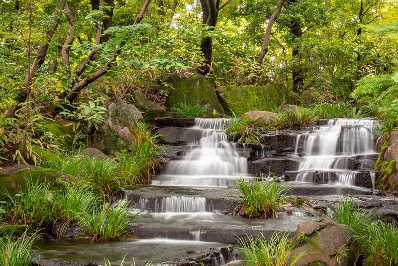 Japanese garden waterfall