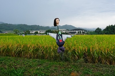 Walking from the Tomaryanse Farmstay to the Inabuchi Tanada Terraced Rice Fields. Asuka Village, Japan.
