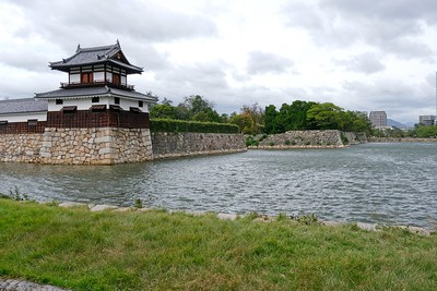 The Taikoyagura Turret and spot beyond where another turret used to stand.