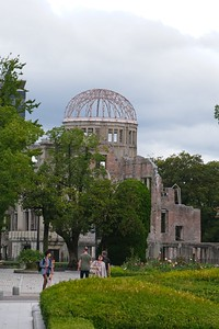 Visiting the Hiroshima Peace Memorial Park - Hiroshima, Japan.