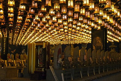 Henjyokutsu Cave holds 88 Buddhist icons representing 88 temples along the pilgrimage route on Japans Shikoku Island.