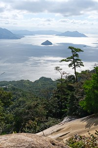 Hiking to the summit of Mount Misen - Miyajima, Hatsukaichi, Japan.