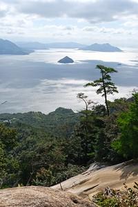 Hiking to the summit of Mount Misen - Miyajima, Hatsukaichi, Japan.