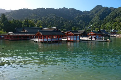 "The ""floating"" Itsukushima Shrine."