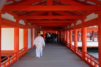 One of the Vermilion lacquered corridors.