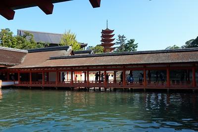 View 5-story Pagoda behind The Marodo Shrine.