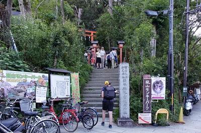 Arriving at the Arashiyama Monkey Park.