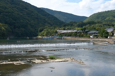 From the Togetsu-kyo Bridge over the Katsura River.