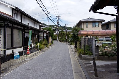 Walking the side streets of Arashiyama.