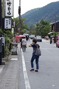 Main street  Arashiyama.