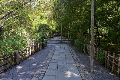 Stone path leading to the Temple.
