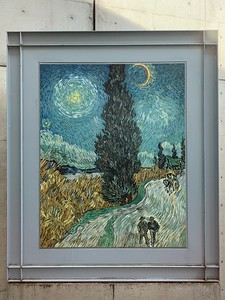 "Vincent van Gogh, ""Road with Cypress and Star""."