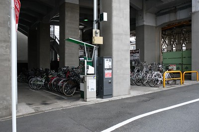 Bike Parking outside of Tōfukuji Station