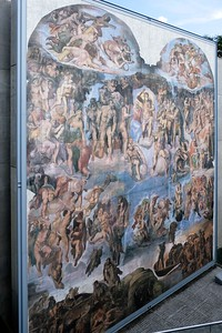 "Michelangelo, ""Last Judgement""."